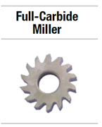 25N324 НАБОР FULL-CARBIDE MILLER 10 COURSE