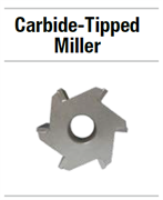 25N307 НАБОР CARBIDE-TIPPED MILLER 8 FINE