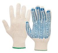 Перчатки х/б с ПВХ, стандарт, белые (4 нитей)